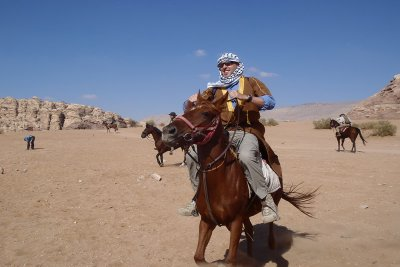 Nabataeans' Trails on a horse-back