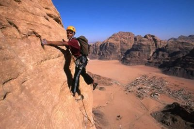 Rock Climbing in Wadi Rum