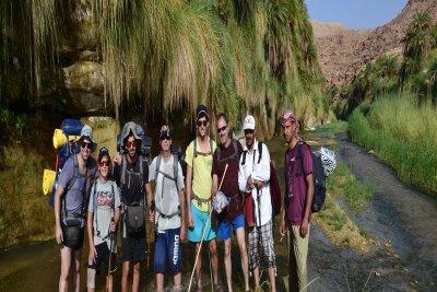 Trekking in Wadi Hasa