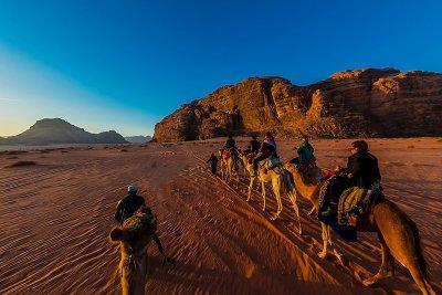 Camel Safari through Jordan
